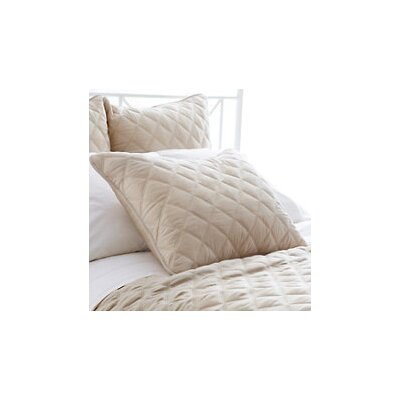 Tencel Quilted Silken Coverlet Size: King, Color: Sand