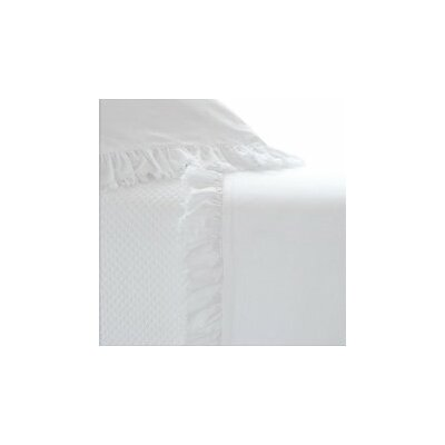 Laundered Ruffle Pillow Case Size: King