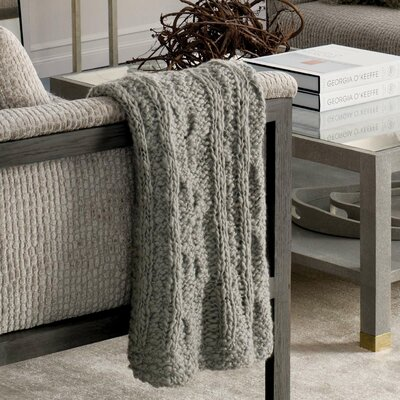 Yarn Bomb Knit Throw Color: Gray