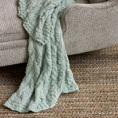 Yarn Bomb Knit Throw Color: Robins Egg Blue