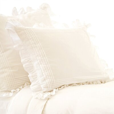 Thea Sham Size: Standard, Color: Ivory