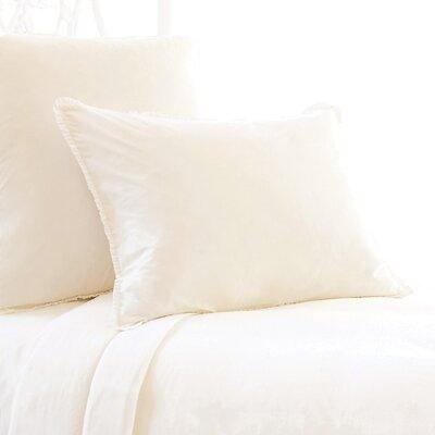 Petite Trellis Matelasse Sham Color: Ivory, Size: Standard
