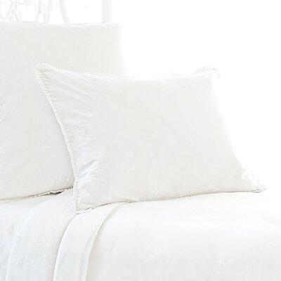 Petite Trellis Matelasse Sham Color: White, Size: Standard