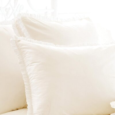 Classic Ruffle 200 Thread Count Boxed Sham Size: Euro, Color: Ivory