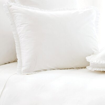 Classic Ruffle 200 Thread Count Sham Size: Standard, Color: White