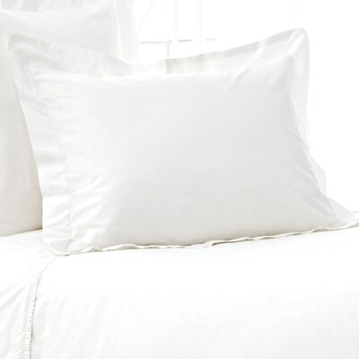 Classic Hemstitch 400 Thread Count Sham Size: Euro, Color: White