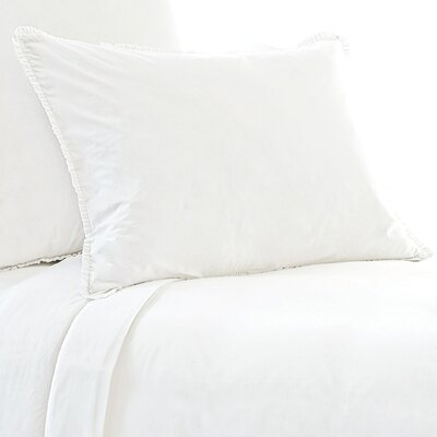 Petite Ruffle 400 Thread Count Sham Size: King, Color: White