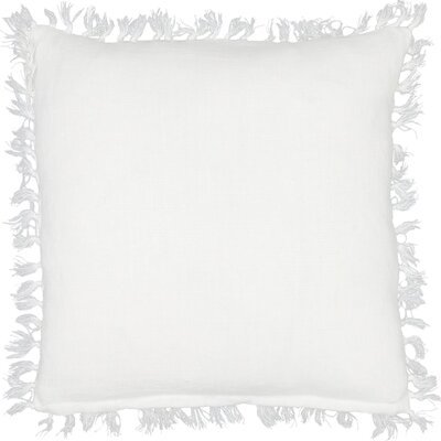 Laundered Linen Throw Pillow Color: White