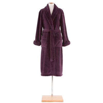 Sheepy Fleece Bathrobe Size: Petite, Color: Plum