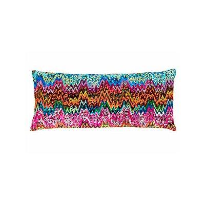 Retro Zag Embroidered Throw Pillow
