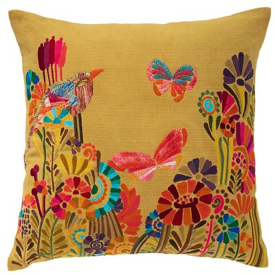 Botanica Embroidered Throw Pillow
