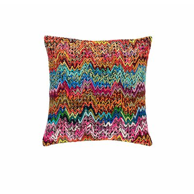 Retro Zag Embroidered Throw Pillow