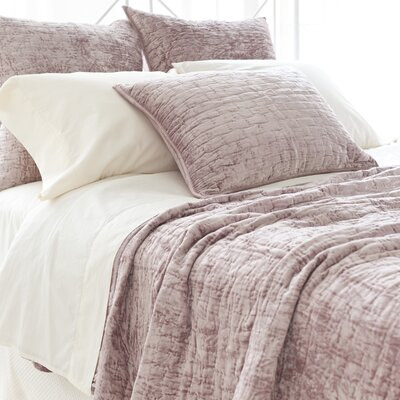 Matte Velvet Quilt Size: Full / Queen, Color: Dusty Plum