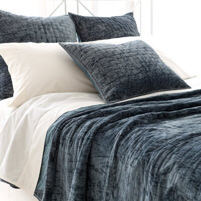Matte Velvet Quilt Size: Full / Queen, Color: Juniper