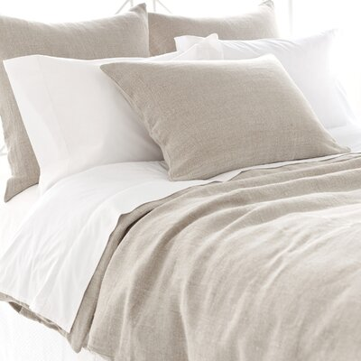 Stone Washed Linen Duvet Cover Size: King