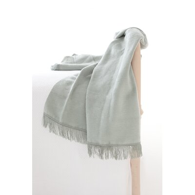 Windsor Fleece Fringed Cotton Throw Color: Ocean