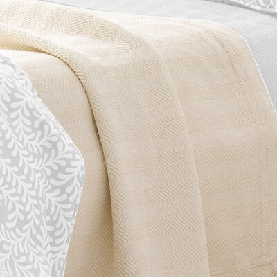 Graphic Traffic Herringbone Matelasse Coverlet Size / Color: King / Ivory