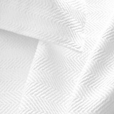 Herringbone Matelasse Sham Size / Color: Euro / White