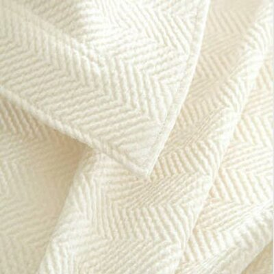 Herringbone Matelasse Sham Size / Color: Euro / Ivory