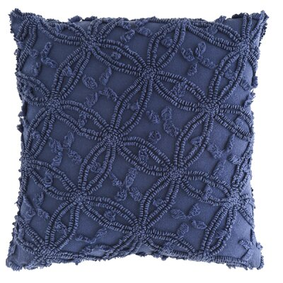 Candlewick Cotton Throw Pillow Color: Ink, Size: 26 H x 26 W