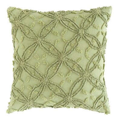 Candlewick Cotton Throw Pillow Color: Rosemary, Size: 20 H x 26 W