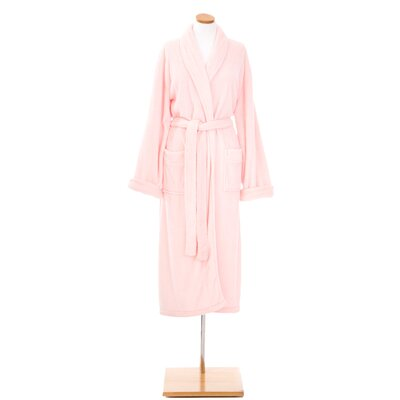 Sheepy Fleece Bathrobe Size: Petite, Color: Pale Rose