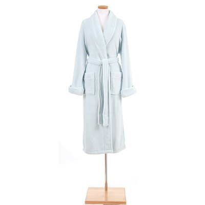 Sheepy Fleece Bathrobe Size: One Size, Color: Chalk Blue