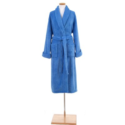 Sheepy Fleece Bathrobe Size: One Size, Color: French Blue