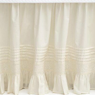 Louisa Cotton Bed Skirt Size: King, Color: Ivory