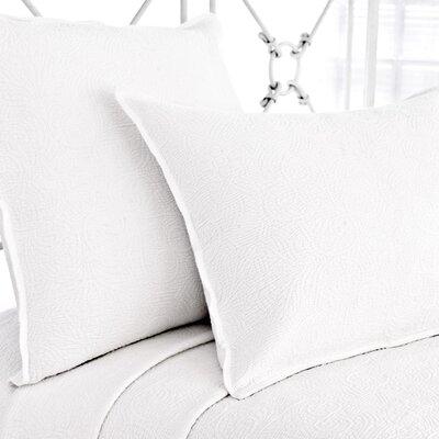 Elizabeth Matelasse Sham Color: White, Size: Standard