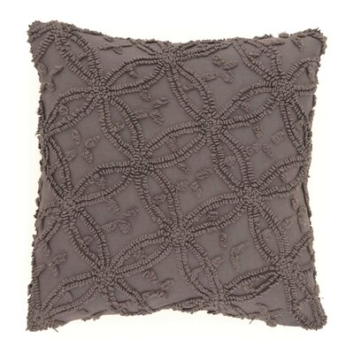 Candlewick Cotton Throw Pillow Size: 26 H x 26 W, Color: Shale