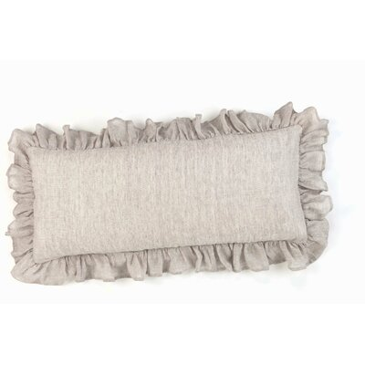Chambray Savannah Linen Lumbar Pillow Color: Dove Grey