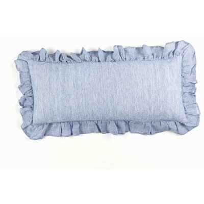 Chambray Savannah Linen Lumbar Pillow Color: French Blue