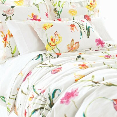 Watercolor Cotton Duvet Cover Size: Twin