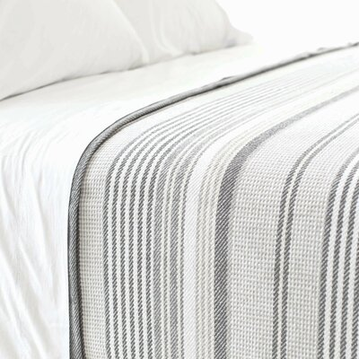 Gradation Cotton Ticking Blanket Size: Full/Queen