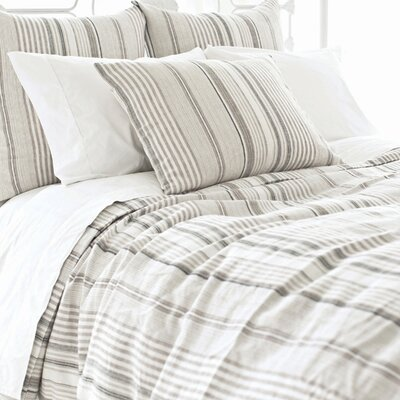 Gradation Linen Duvet Cover Size: Full/Queen