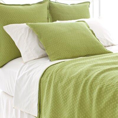 Diamond Matelasse Cotton Coverlet Size: Twin, Color: Key Lime