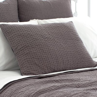 Seychelles Quilted Sham Size: Standard, Color: Shale