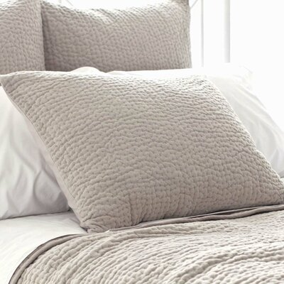 Seychelles Quilted Sham Size: Standard, Color: Natural