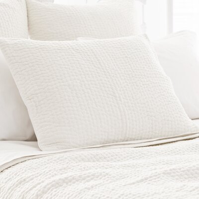 Seychelles Quilted Sham Size: Standard, Color: Dove White