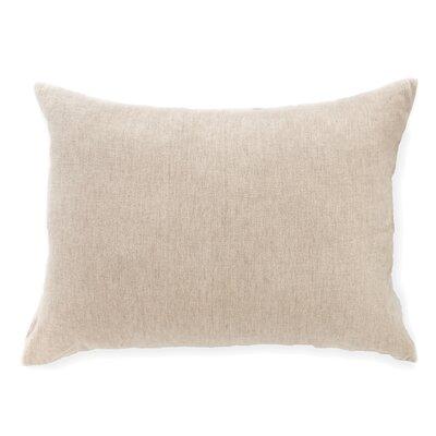 Linen Chenille Continental Lumbar Pillow