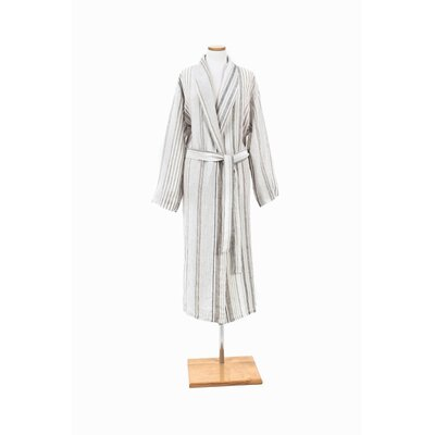 Gradation Linen Bathrobe Size: Extra Large