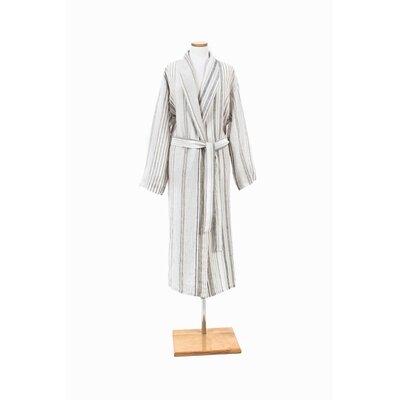 Gradation Linen Bathrobe Size: Medium / Large