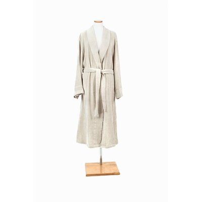 Linen Chenille Bathrobe Size: Extra Large
