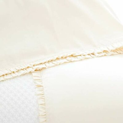 La Dolce Villa Petite Ruffle 400 Thread Count 100% Cotton Sheet Set Size: Queen, Color: Ivory