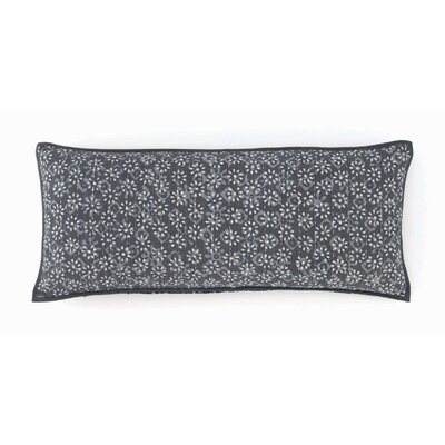 Resist Kantha Cotton Boudoir/Breakfast Pillow