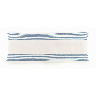 Ibiza Double Cotton Lumbar Pillow Color: French Blue