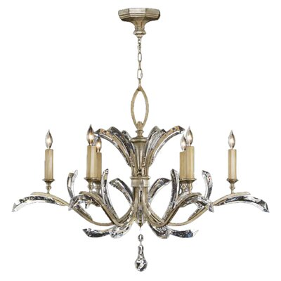 Beveled Arcs 6-Light Candle-Style Chandelier Finish: Silver