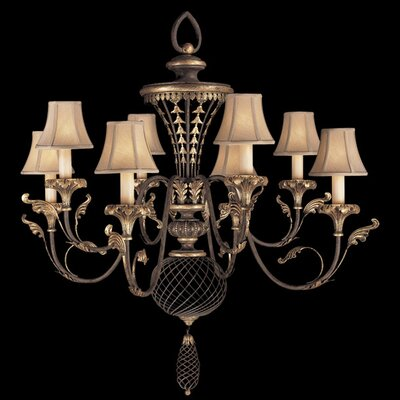 Villa 1919 8-Light Shaded Chandelier