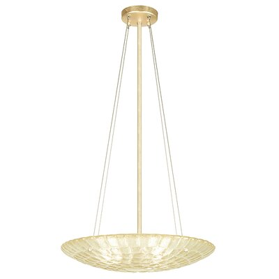 Constructivism 3-Light Inverted Pendant Finish: Gold, Shade Color: Sunrise Gold
